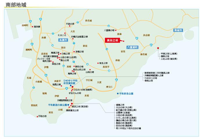 萬朶之塔の地図