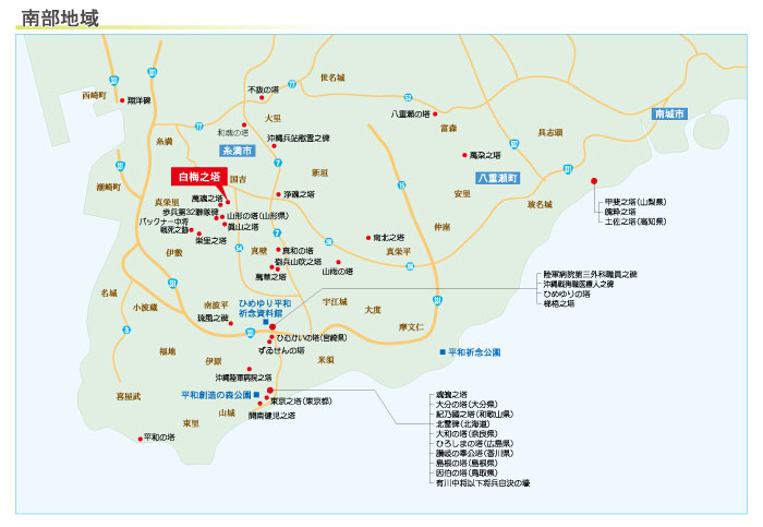 白梅之塔の地図